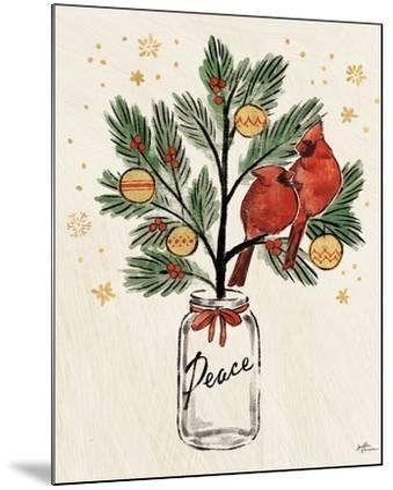 Christmas Lovebirds XIII-Janelle Penner-Mounted Art Print