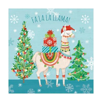 Lovely Llamas Christmas IX-Mary Urban-Framed Art Print