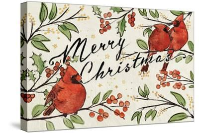 Christmas Lovebirds VIII-Janelle Penner-Stretched Canvas Print