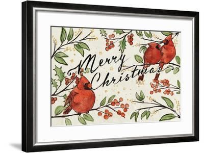 Christmas Lovebirds VIII-Janelle Penner-Framed Art Print