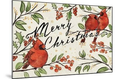 Christmas Lovebirds VIII-Janelle Penner-Mounted Art Print