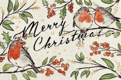 Christmas Lovebirds I-Janelle Penner-Framed Art Print