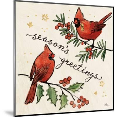 Christmas Lovebirds X-Janelle Penner-Mounted Art Print