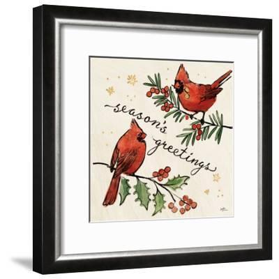 Christmas Lovebirds X-Janelle Penner-Framed Art Print