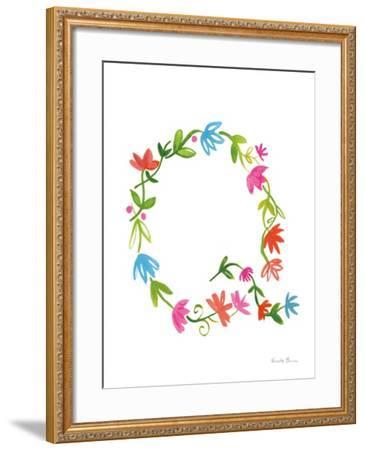 Floral Alphabet Letter XVII-Farida Zaman-Framed Art Print