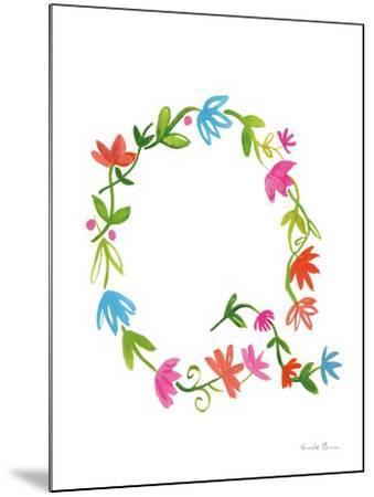 Floral Alphabet Letter XVII-Farida Zaman-Mounted Art Print