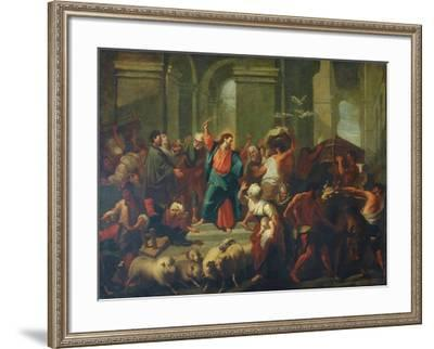 Christ Expelling The Sellers From The Temple-Jean-Baptiste Jouvenet-Framed Giclee Print