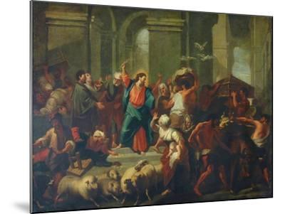 Christ Expelling The Sellers From The Temple-Jean-Baptiste Jouvenet-Mounted Giclee Print
