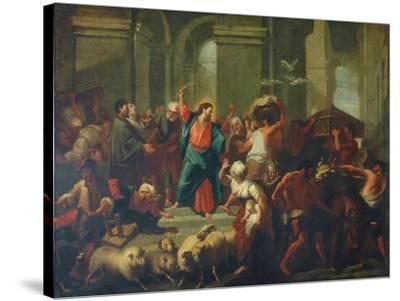 Christ Expelling The Sellers From The Temple-Jean-Baptiste Jouvenet-Stretched Canvas Print