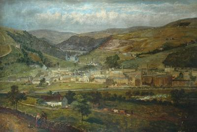 Hebden Bridge from Palace House, Fairfield, 1869-John Holland-Framed Giclee Print