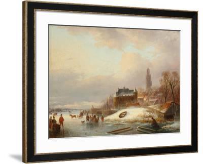 Snow Scene in Holland-Franz Xaver Winterhalter-Framed Giclee Print