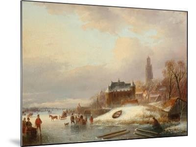 Snow Scene in Holland-Franz Xaver Winterhalter-Mounted Giclee Print