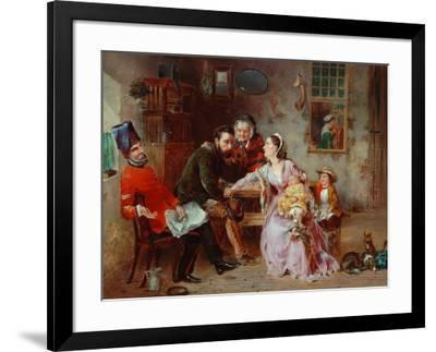 The Queen's Shilling-W.S.P. Henderson-Framed Giclee Print