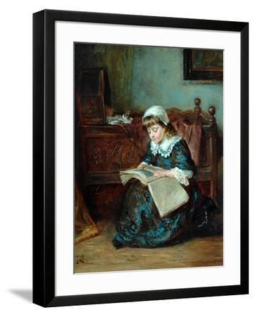 The Story Book, 1864-93-Robert Alexander Hillingford-Framed Giclee Print