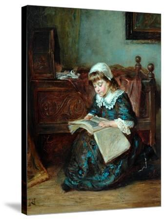 The Story Book, 1864-93-Robert Alexander Hillingford-Stretched Canvas Print
