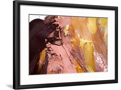 Background of Warm Colorful Abstract Painting-Kateryna Mostova-Framed Photographic Print