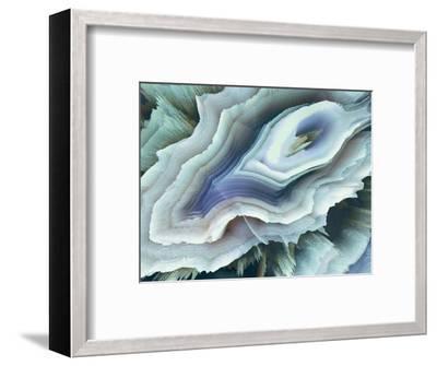 Digital Agate - Teal--Framed Premium Giclee Print