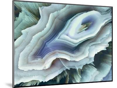 Digital Agate - Teal--Mounted Premium Giclee Print
