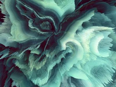 Digital Agate - Teal--Stretched Canvas Print