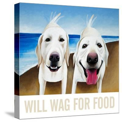 Will Wag For Food-Mark Ulriksen-Stretched Canvas Print