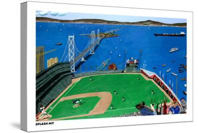 San Francisco - Splash Hit-Mark Ulriksen-Stretched Canvas Print