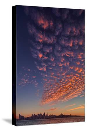Magical Popcorn Clouds Over San Francisco Skyline Treasure Island-Vincent James-Stretched Canvas Print