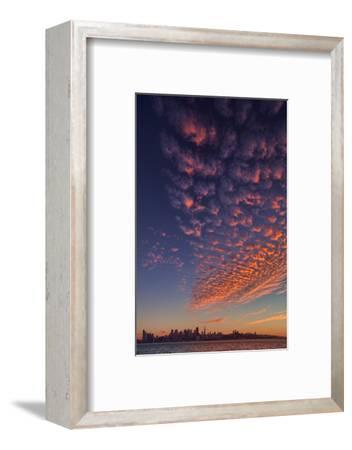 Magical Popcorn Clouds Over San Francisco Skyline Treasure Island-Vincent James-Framed Photographic Print
