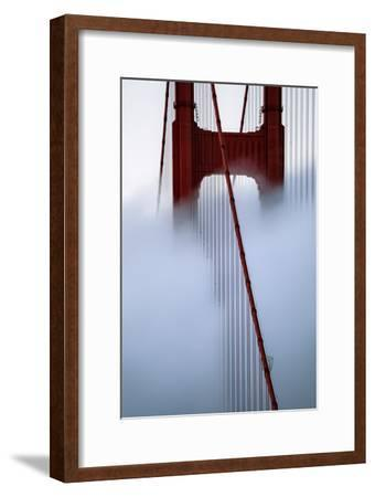 Moving Fog at Golden Gate Bridge, San Francisco California Travel-Vincent James-Framed Photographic Print