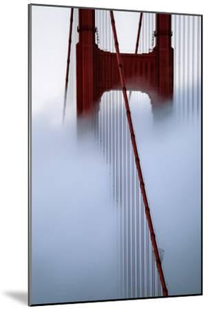 Moving Fog at Golden Gate Bridge, San Francisco California Travel-Vincent James-Mounted Photographic Print
