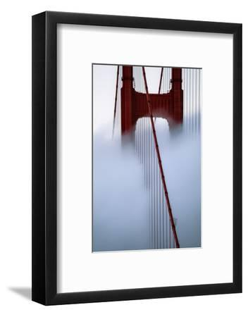 Moving Fog at Golden Gate Bridge, San Francisco California Travel-Vincent James-Framed Photographic Print