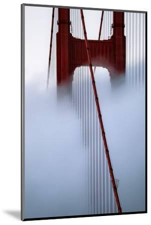Moving Fog at Golden Gate Bridge, San Francisco California Travel-Vincent James-Mounted Photographic Print