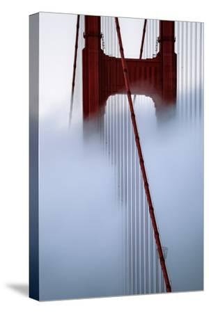 Moving Fog at Golden Gate Bridge, San Francisco California Travel-Vincent James-Stretched Canvas Print