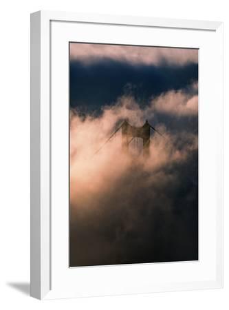 Fog Swarm at North Tower Golden Gate Bridge Mist Mood & Light-Vincent James-Framed Photographic Print