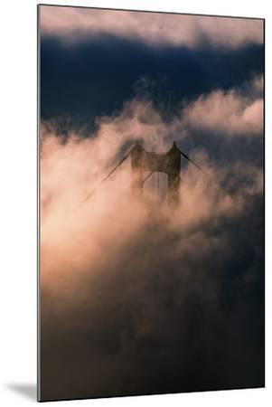Fog Swarm at North Tower Golden Gate Bridge Mist Mood & Light-Vincent James-Mounted Photographic Print