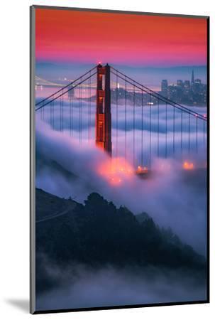 Moody Candy Morning Fog Golden Gate Bridge, San Francisco California Travel-Vincent James-Mounted Photographic Print