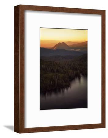 Black Butte in Orange Light, Castle Lake Overlook Mount Shasta Northern California-Vincent James-Framed Photographic Print