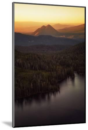 Black Butte in Orange Light, Castle Lake Overlook Mount Shasta Northern California-Vincent James-Mounted Photographic Print