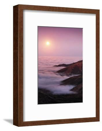 Out There Harvest Moon Light Glow & Pacfic Ocean Fog Marin Headlands-Vincent James-Framed Photographic Print