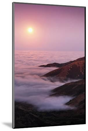 Out There Harvest Moon Light Glow & Pacfic Ocean Fog Marin Headlands-Vincent James-Mounted Photographic Print