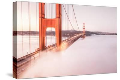 Deck Fog at Golden Gate Bridge, San Francisco-Vincent James-Stretched Canvas Print