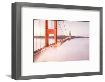 Deck Fog at Golden Gate Bridge, San Francisco-Vincent James-Framed Photographic Print