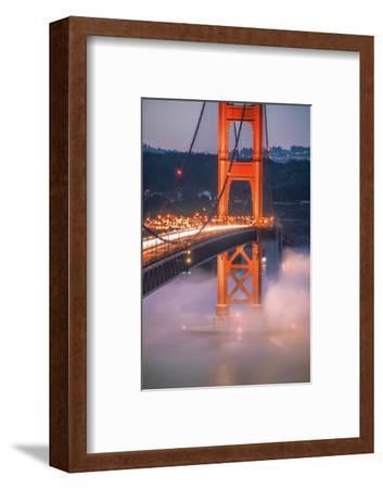 Golden Travels, Night Photography Golden Gate Bridge, San Francisco-Vincent James-Framed Photographic Print