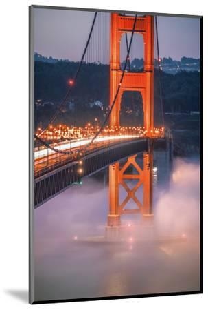 Golden Travels, Night Photography Golden Gate Bridge, San Francisco-Vincent James-Mounted Photographic Print