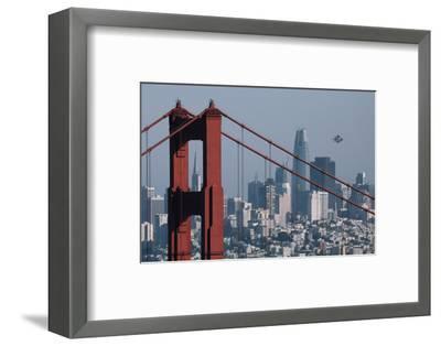 Blue Angels Arrive at Golden Gate Bridge, San Francisco-Vincent James-Framed Photographic Print
