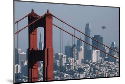 Blue Angels Arrive at Golden Gate Bridge, San Francisco-Vincent James-Mounted Photographic Print