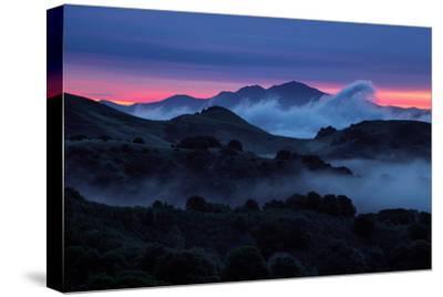 Epic Morning Fog at Sunrise East Bay Hills Mount Diablo Oakland-Vincent James-Stretched Canvas Print