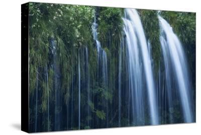 Mossbrae Falls Detail, Waterfall, Mount Shasta California-Vincent James-Stretched Canvas Print