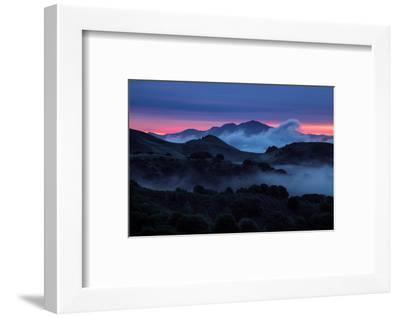 Epic Morning Fog at Sunrise East Bay Hills Mount Diablo Oakland-Vincent James-Framed Photographic Print