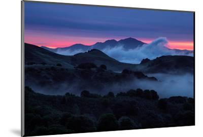 Epic Morning Fog at Sunrise East Bay Hills Mount Diablo Oakland-Vincent James-Mounted Photographic Print