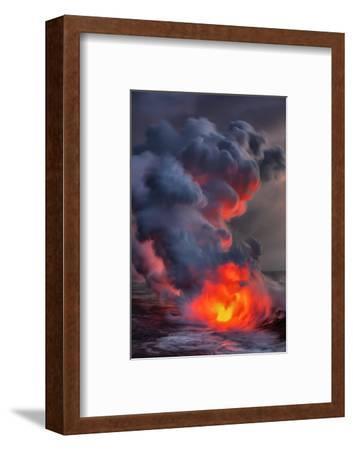 Fire Water Lava Shore Hawaii Big Island Volcano National Park-Vincent James-Framed Photographic Print